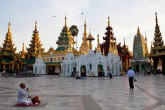 Shwedagon Pagoda, Burma Stock Photography