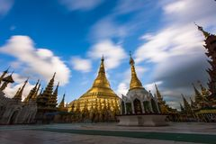 Shwedagon Pagoda-Yangon-Myanmar. The Shwedagon Pagoda in the city of Yangon in Myanmar Stock Photos