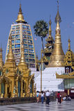 Shwedagon Pagoda Complex - Yangon - Myanmar Royalty Free Stock Photography