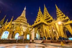 Shwedagon Pagoda at dusk (Yangon, Myanmar) Royalty Free Stock Image
