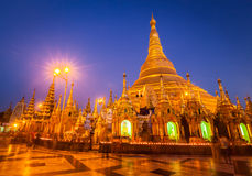 Shwedagon pagoda in the evening Royalty Free Stock Photo