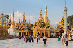 Shwedagon Pagoda at the evening, Yangon Stock Image