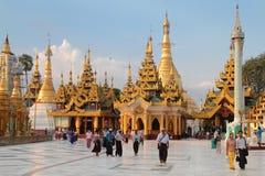 Shwedagon Pagoda at the evening, Yangon Stock Image