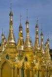 Shwedagon Pagoda Golden Spires Royalty Free Stock Image