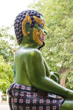 Shwedagon Pagoda Green Demon Statue in Rangoon, My Royalty Free Stock Image