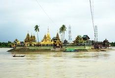 Shwedagon pagoda the iconic landmark. Shwedagon pagoda ,Kyauktan Yele Paya,Bo Bo Gyi the iconic landmark of Myanmar Stock Image