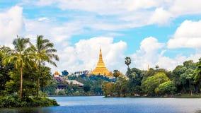 Shwedagon Pagoda In Yagon, Myanmar Royalty Free Stock Photography