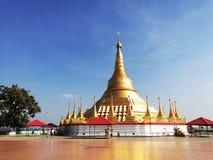 Shwedagon pagoda is landmark of Myanmar. royalty free stock photos