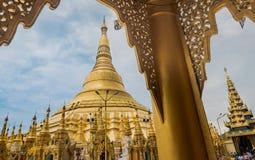 Shwedagon Pagoda, Myanmar Arkivfoton