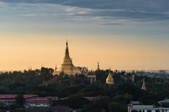 Shwedagon Pagoda, Myanmar Arkivbilder