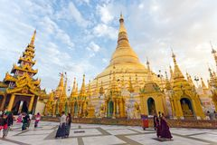 The Shwedagon Pagoda in Myanmar Royalty Free Stock Photo