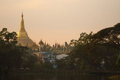 Shwedagon Pagoda at Myanmar Royalty Free Stock Images