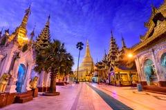Shwedagon Pagoda of Myanmar Stock Photo