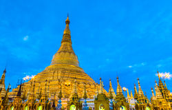 Shwedagon pagoda in Myanmar Royalty Free Stock Photography