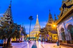 Shwedagon pagoda in Myanmar Stock Photo
