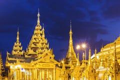 Shwedagon Pagoda at night Stock Photography
