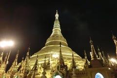Shwedagon Pagoda at night Royalty Free Stock Photography