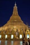 Shwedagon pagoda at night, Yangon, Myanmar Royalty Free Stock Photos