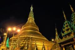 Shwedagon Pagoda at night, Yangon, Myanmar Stock Photography