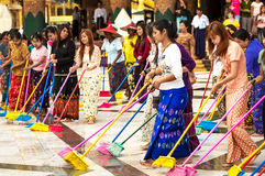 Shwedagon Pagoda November 30, 2013 in Yangon. Stock Images