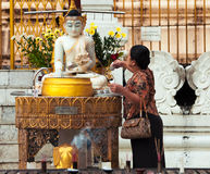 Shwedagon pagoda 30 novembre Fotografia Stock Libera da Diritti