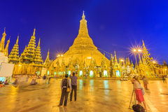 The Shwedagon Pagoda repair every five years at a time, Yangon Stock Photo