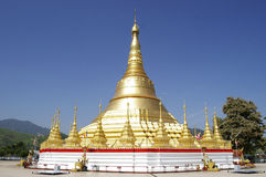 Shwedagon Pagoda replicas Stock Photo