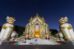 Shwedagon Pagoda`s western entrance in Yangon Royalty Free Stock Photography