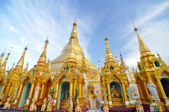 Shwedagon Pagoda Temple in Yangon, Myanmar. Royalty Free Stock Photo