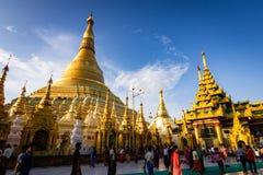 Shwedagon pagoda w Yangon, Myanmar Zdjęcia Royalty Free