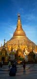Shwedagon pagoda w Yangon, Myanmar Obrazy Royalty Free