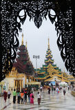 Shwedagon pagoda w Yangon, Myanmar Fotografia Royalty Free