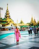 Shwedagon pagoda w Yangon, Myanmar Obraz Stock