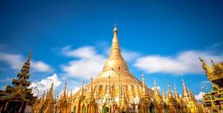 Shwedagon pagoda in Yagon, Myanmar Stock Image