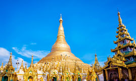 Shwedagon pagoda in Yagon, Myanmar Stock Photography