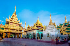 Shwedagon pagoda in Yagon, Myanmar.  Stock Photos