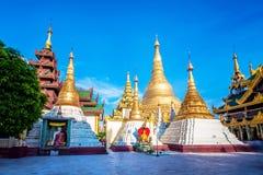 Shwedagon pagoda in Yagon, Myanmar.  royalty free stock photography