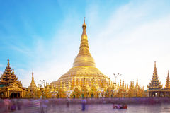 Shwedagon pagoda in Yagon, Myanmar.  Royalty Free Stock Photo