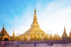Shwedagon pagoda in Yagon, Myanmar.  royalty free stock photo