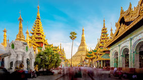 Shwedagon pagoda in Yagon, Myanmar.  Royalty Free Stock Image