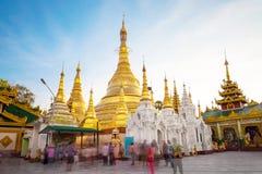 Shwedagon pagoda in Yagon, Myanmar.  stock photography