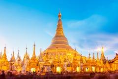 Shwedagon pagoda in Yagon, Myanmar.  royalty free stock photos