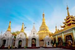 Shwedagon pagoda in Yagon, Myanmar.  stock photo