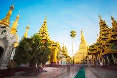 Shwedagon pagoda in Yagon, Myanmar.  stock photos