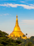 Shwedagon pagoda in Yagon, Myanmar.  royalty free stock image