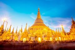 Shwedagon pagoda in Yagon, Myanmar.  stock images