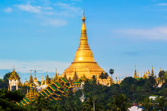 Shwedagon pagoda in Yagon, Myanmar Royalty Free Stock Image