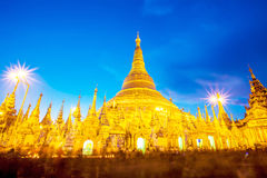 Shwedagon pagoda in Yagon, Myanmar Royalty Free Stock Images