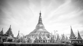 Shwedagon pagoda in Yagon, Myanmar. Shwedagon pagoda in B@W, Yagon, Myanmar royalty free stock photo