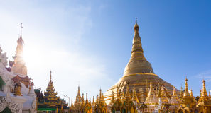 Shwedagon pagoda in Yagon, Myanmar. Royalty Free Stock Images